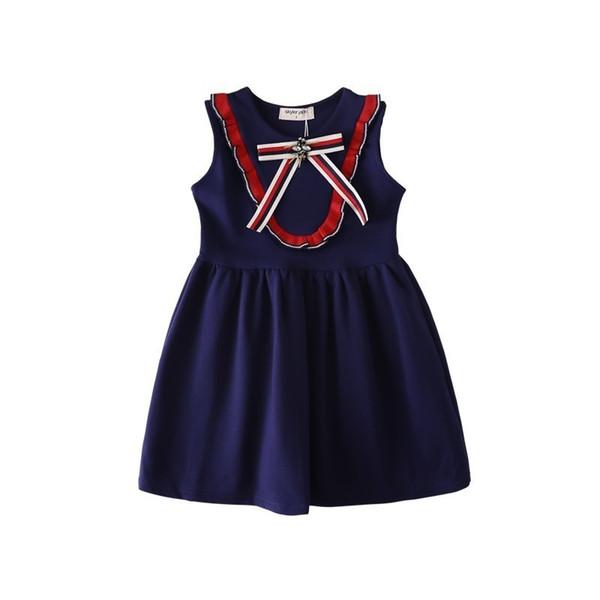 Latest model summer children's skirt girl dress high quality amazing Sweet easy Roman cotton
