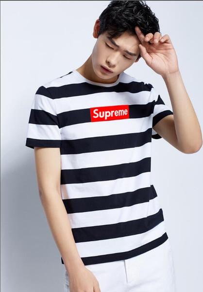summer short-sleeved T-shirt for men Korean version round collar popular logo printed half-sleeved T-shirt students handsome and easy