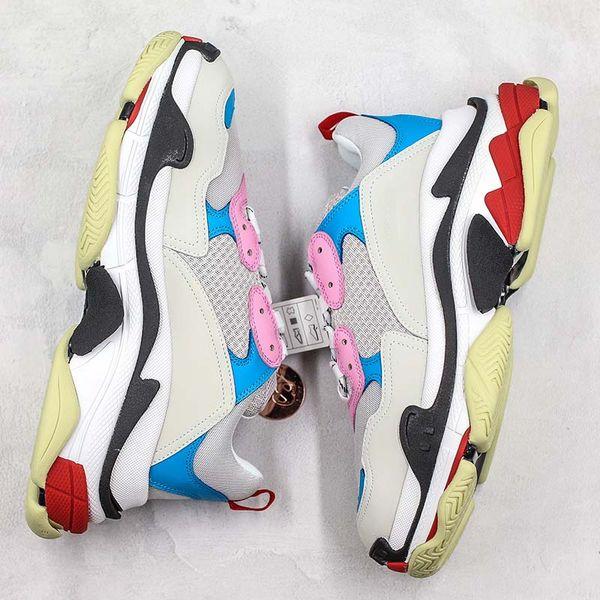 Fashion Paris Brand Triple S Old Dad Run Shoes Men Women White Pink Blue Black Cool Designer Clunky Sneakers