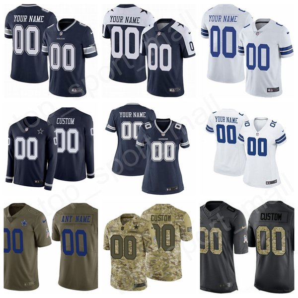 huge selection of 6b473 f96ea 2019 Custom Football Name Men Women Kids Dallas Cowboys Jersey Prescott  Elliott Cooper 9 Tony Romo Michael Gallup Jeff Heath Chidobe Awuzie Jones  From ...
