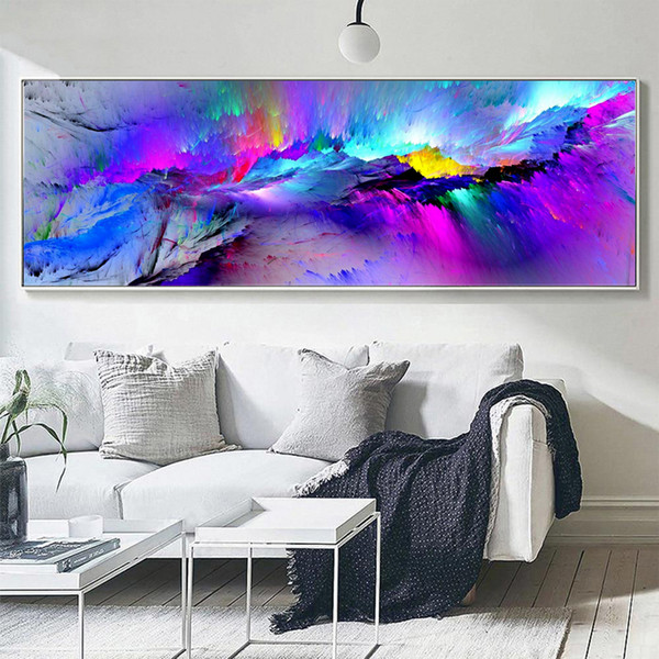 Large Canvas Wall Art Oil Painting Home Decor Abstract Colorful Clouds Canvas Art Print Painting No Frame Uk 2019 From World View Uk 11 08 Dhgate