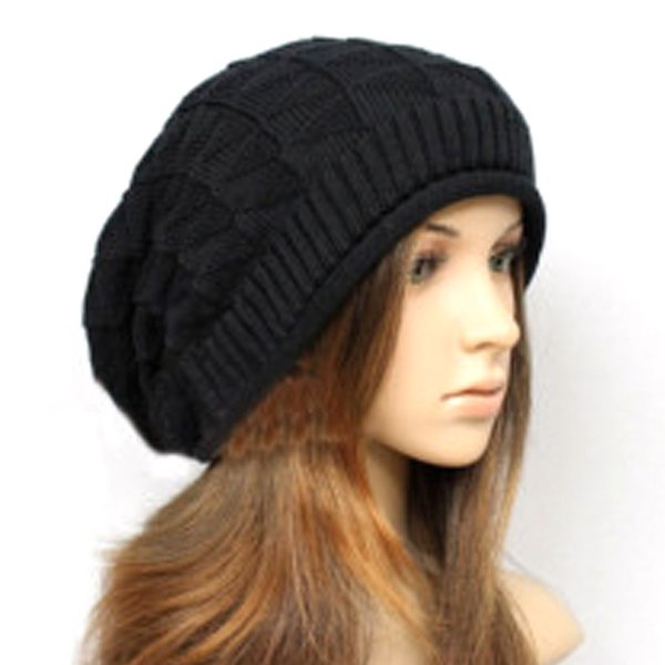 Hombres Mujeres Invierno Punto Baggy Beanie Oversize Ski Slouchy Winter Hat Chic Cap Hat Color sólido Hip-hop Gorros casuales
