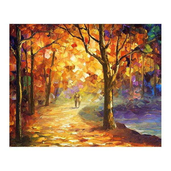 24x20 Hand-painted oil painting white birch forest landscape painting the living room sofa wall adornment villa tree-lined trail that hang