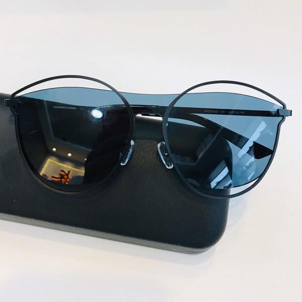 Gafas de sol de diseño de lujo de alta gama Marcos negros y plateados para hombres y mujeres Gafas de sol de diseño de moda parasol