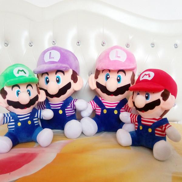 2019 yeni varış Sıcak Satış 4 Stil 25 CM MARIO LUIGI Süper Mario Bros Peluş Bebek Dolması Oyuncaklar Bebek Iyi Hediyeler Için