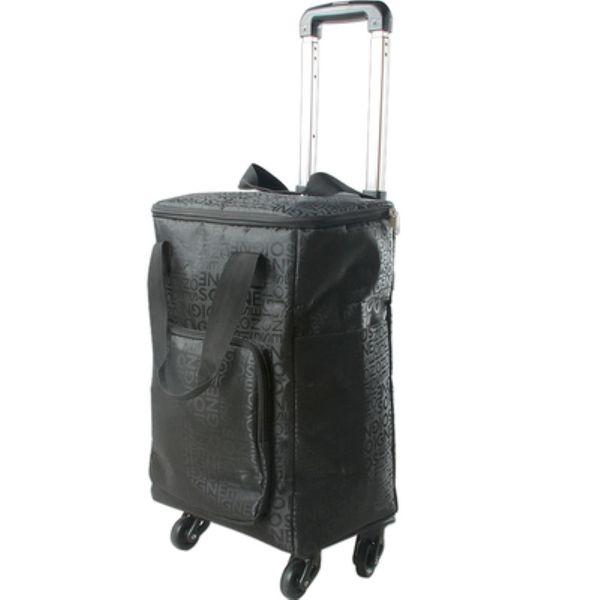 Trole dobrável, carrinho de compras portátil da roda universal, saco de compras do trole da liga de alumínio, fardo do armazenamento do curso, tronco claro