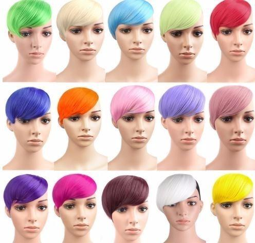 2019 Multicolor Hair Extension Hairpieces False Piece Clip On Front Neat Bang For Women Synthetic Hair Fringe Bangs