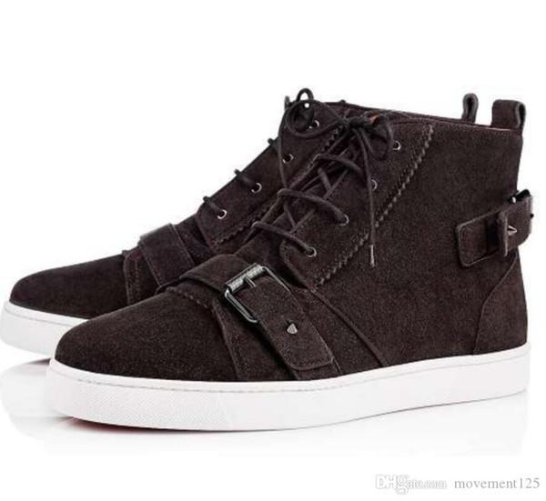 Zapatillas de deporte de lujo con fondo rojo, zapatos de mujer, zapatillas de deporte para hombres, zapatos de ocio casuales de ante de moda Classic35-46
