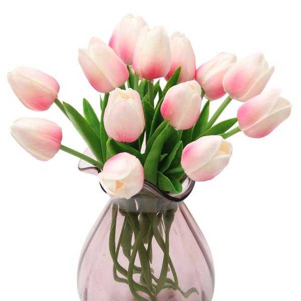 PU-Material Mini künstliche Blume realistische Touch-Tulpe-Blumen-Ausgangsdekoration Startseite Wedding Bouquet Dekoration