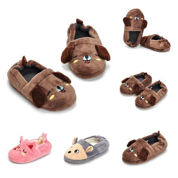 Novo Bebê Meninos Meninas Dos Desenhos Animados Fundo Macio Chinelos de Alta Qualidade Crianças Crianças Crianças Adorável Outono Inverno Quente Sapatos De Pelúcia