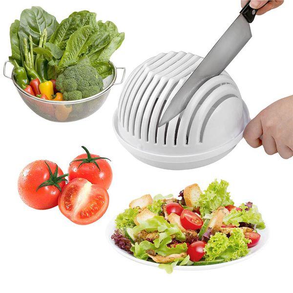 DHL бесплатная доставка 60 второй салат резак чаша легкий салат фрукты овощи измельчитель шайба и резак быстрый салат чайник измельчитель 60 шт.
