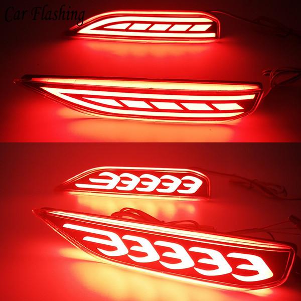 Lampeggiante auto 2 pezzi coda lampada spia paraurti posteriore LED paraurti posteriore riflettore lampada luce freno per Mitsubishi xpander 2017 2018 2019