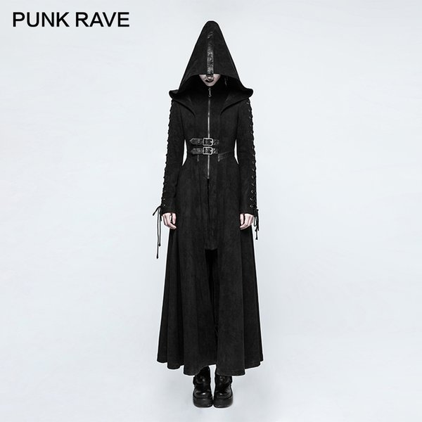 Gothic Jacke Rave 2 warm Kapuze Damen Winter Punk Mantel ED2HIW9Y