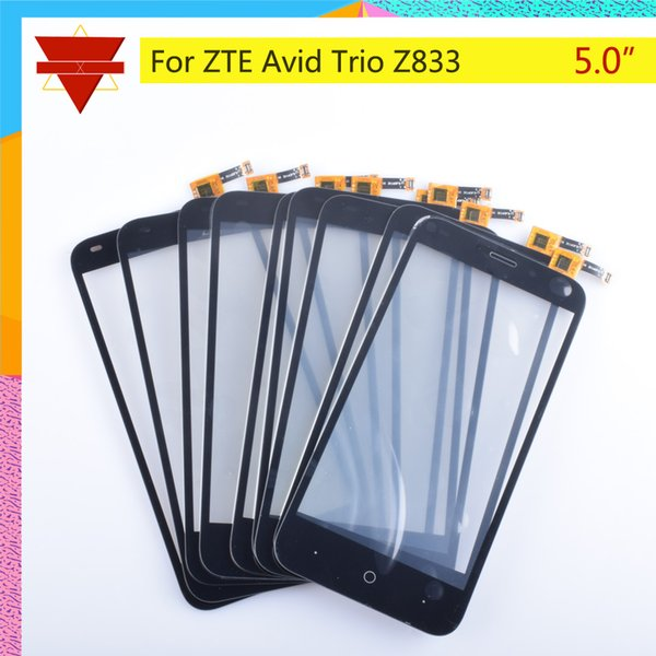 f3feb95f724252 10Pcs/lot Touch Screen Digitizer For ZTE Avid Trio Z833 Touch Panel  Touchscreen Lens Front