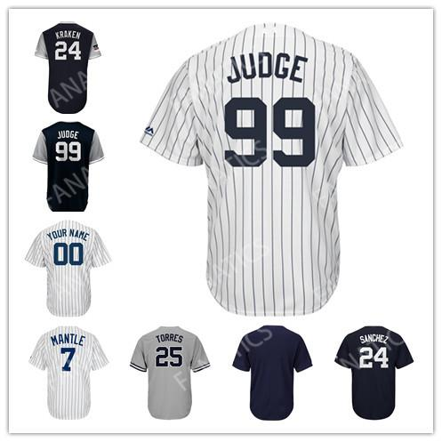 timeless design 1d482 c2e8a 2019 99 Aaron Judge 7 Mickey Mantle 3 Babe Ruth Mickey Mantle Luis Severino  Gleyber Torres Men Women Kid Toddler New York Baseball Jersey From ...