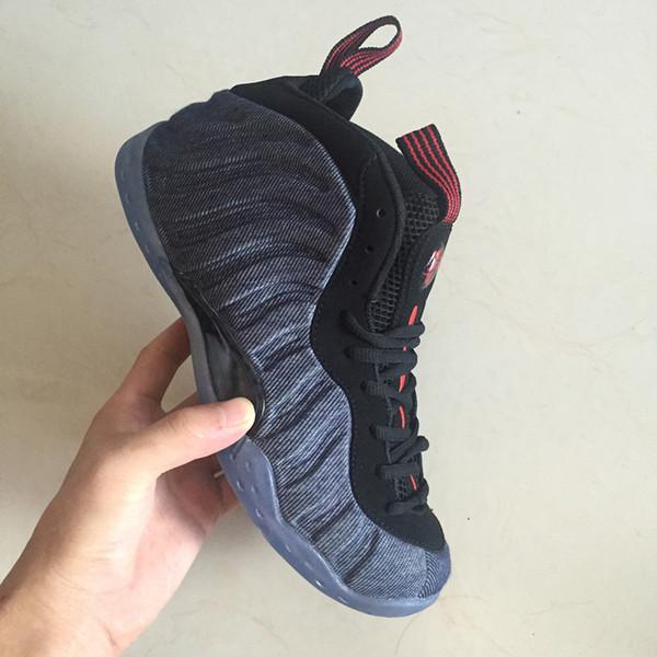 Alta calidad de espuma posite Pro zapatos de baloncesto de los hombres Hardaway Spray Blue Denim Men Sports Shoes Sneaker Designer tamaño EE.UU. 7-13