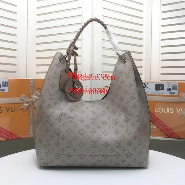 Высококачественная сумка серая кожа Большая емкость с принтом Большая подвеска с буквой Женские фирменные сумки Большая женская сумка AB-33