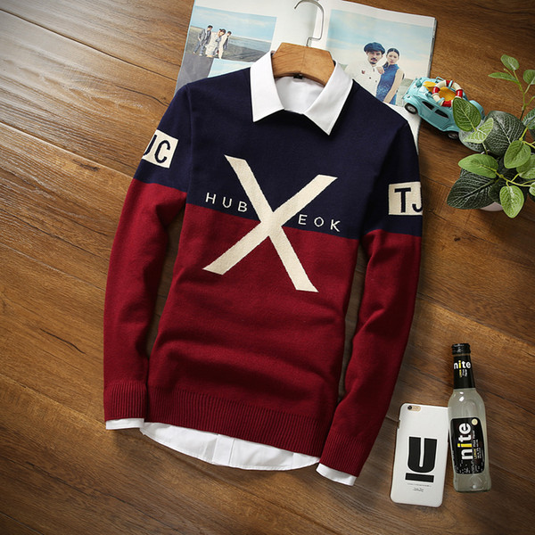 2019 new handsome winter warm men sweater round collar pullover thermal sweaters fashion christmas sweater thumbnail