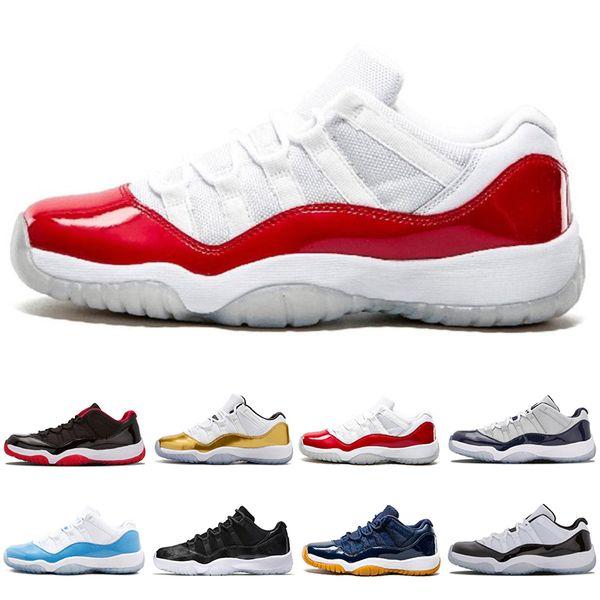 f4352c80 NIKE Air Jordan 11 Retro 2018 ГОРЯЧИЕ дизайнерские туфли 11 Низкие баскетбольные  кроссовки мужские Спортивные кроссовки