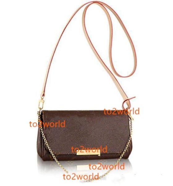 Bolso de cuero real favorito bolso de bandolera de las mujeres diseño favorito cadena de embrague correa de cuero monedero de las mujeres