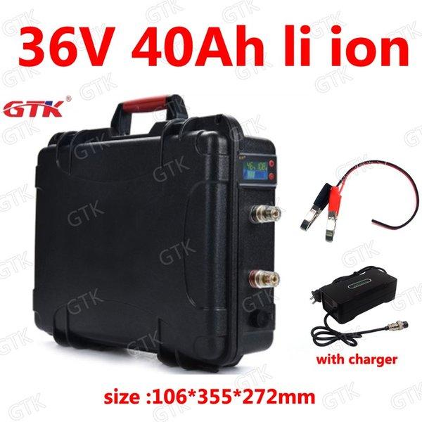 GTK водонепроницаемый 36 в 40ah литий-ионный аккумулятор 18650 BMS li ion для 750 Вт 1500 Вт E-велосипед скутер велосипед трехколесный катер EV +5A зарядное устройство