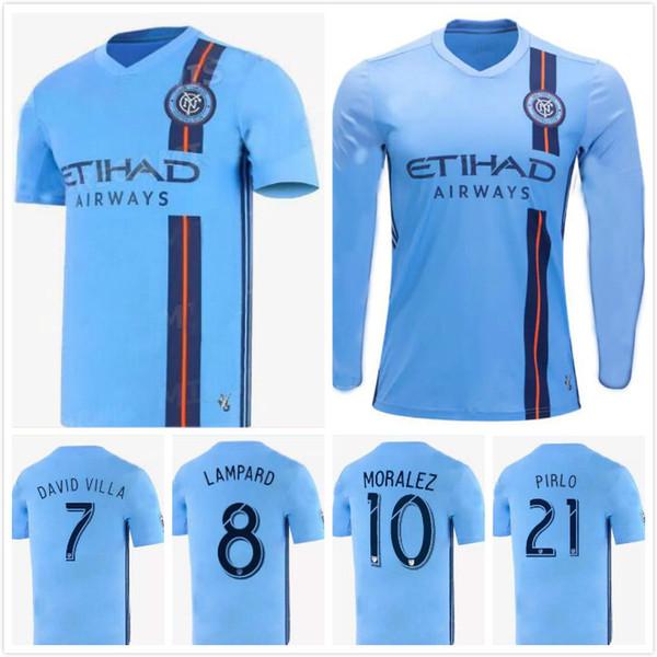 LONG SLEEVE MLS 19/20 NYCFC New York City FC Soccer Jerseys PIRLO MIX DAVID VILLA LAMPARD Away Maillot De Foot 2019 2020 football shirts