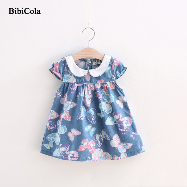 good quality Summer Girls Dress Cotton Draped Butterfly Birthday Party Dress Infant Kids Girls Tutu Dress Children's Clothing Outfit