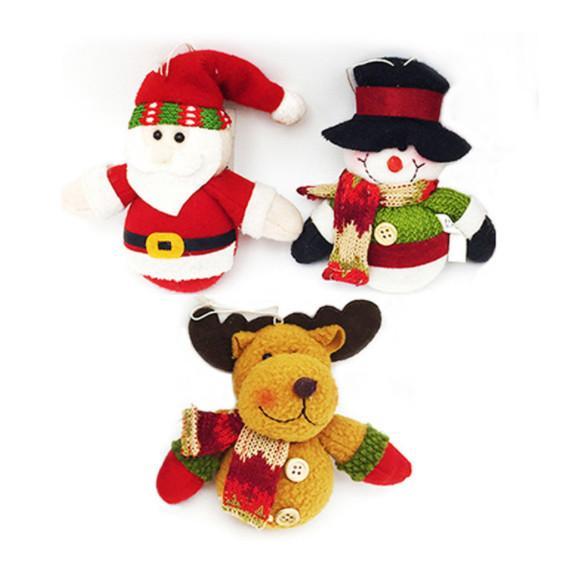 Venta caliente Encantador tamaño pequeño árbol de navidad regalo de la familia tienda de la fiesta decoraciones de la ventana de Santa Claus ciervos muñeco de nieve muñecas Chrismas
