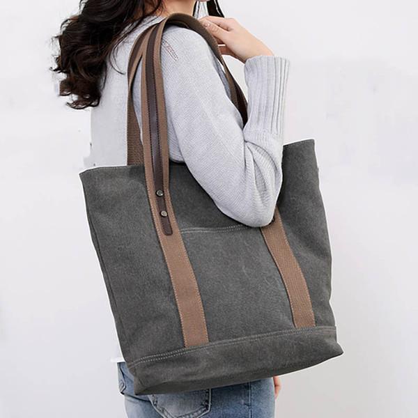 Saco de lona tote bolsas sacos de mão das senhoras bolsa de ombro das mulheres com zíper saco um bolsos mujer principal sac bandouliere femme