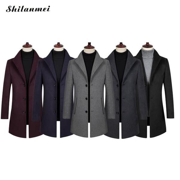 Homme Simple Boutonnage Col Mandarin Veste blazer School Uniform Slim Fit Manteaux