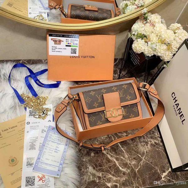 Waist pack Sale Discount Quality Women Bag Handbag Shoulder bag Genuine leather handle floral letters checkers plaid