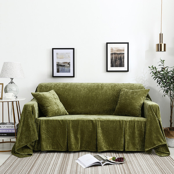 Brilliant Double Sided Flannel Sofa Cover Chair Loveseat Sofa Towel Three Seat Slipcovers With Skirt Soft Comfortable Thick Durable Sofa Slipcovers Couch Cjindustries Chair Design For Home Cjindustriesco