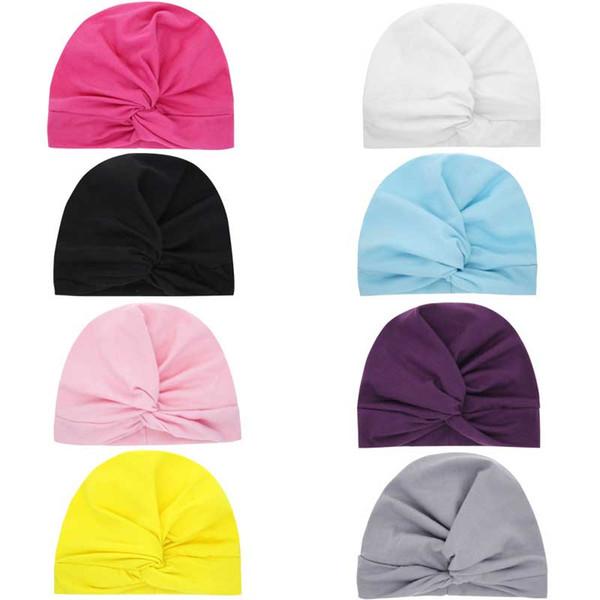 2019 младенцев новорожденных девочек шапка узел цветок головные уборы дети малыша дети шапочки тюрбан пончики цветочные шляпы детские аксессуары C21