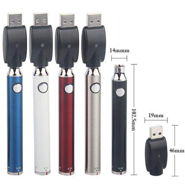 Ön Isıtma Büküm Pil 650 mah + USB Şarj