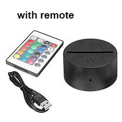 RGB base with IR remote