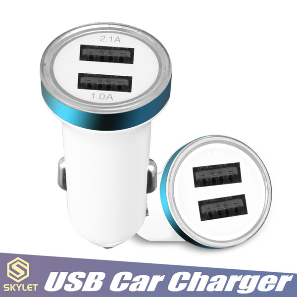 SKYLET Dual USB Car Charger 5V 1A NOKOKO Power Adapter Vehicle Portable Car Charging Charger for Samsung iPhone Huawei Moto Nokia Cellphones