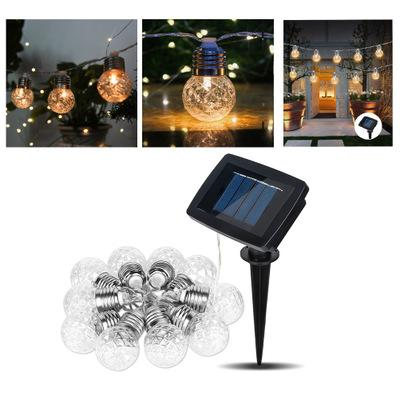 Solar Polo bulb light String Outdoor Solar String Lights 10/20LED Lamps Fairy Bubble Crystal Ball Holiday Party Decoration Lights Lawn Patio