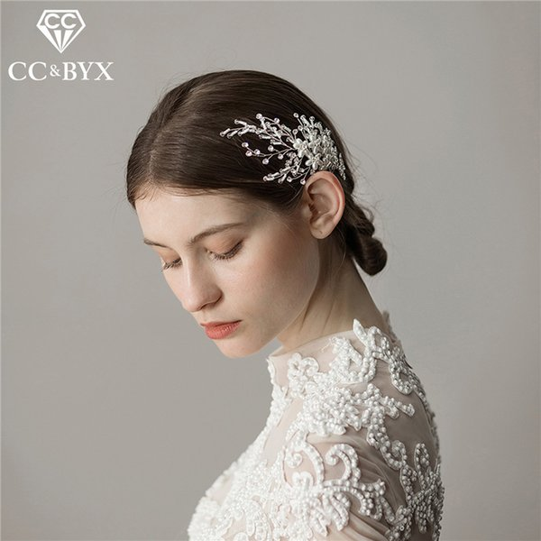 CC wedding jewelry hair combs hairpins for bridal girls party beach fashion engagement accessories headdress simple design O370