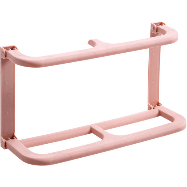 Wall Mounted Plastic Shoe Rack Paste Type Hanger Simple And Easy Shelves Pure Color Non Slip Integral Type Save Space 2 8lxb1