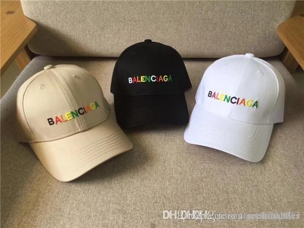 19SS luxuriösen Brand Design BB mehrfarbige Stickerei Flaggen Caps Männer Frauen Mode Baseballmützehut Streetaußen Snapbacks