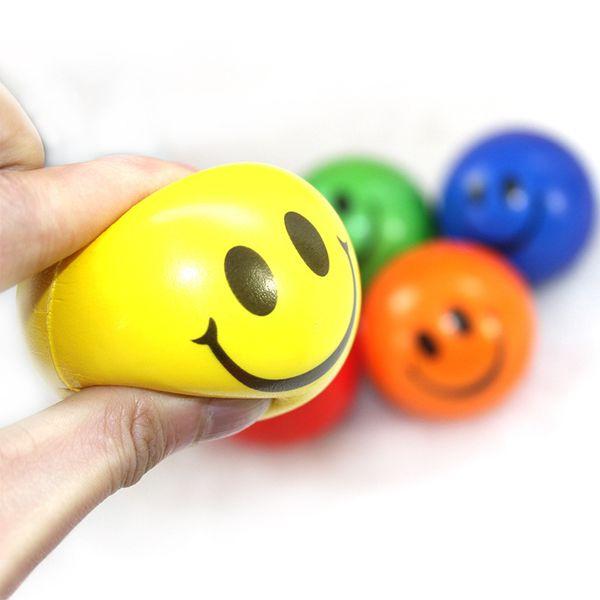 6.3 CM Engraçado Esponja Emoji Espremer Stress Bola de Pulso Dedo Treinamento Bolas Esponja Macia PU Bouncy Ball Crianças Novidade Brinquedos brinquedos de descompressão