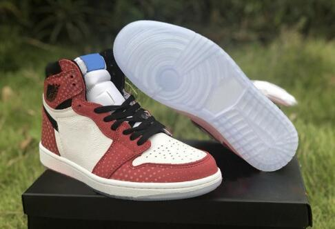 2019 Newest 1 1s High Spider Man Origin Story Designer Basketball Shoes Custom I Chicago Crystal Gym Red White Photo Blue Black SneakersN15