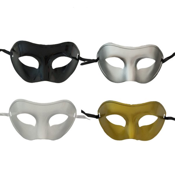 Retro Men Halloween Silver Gold Venetian Mardi Gras Masquerade Party Ball PVCA