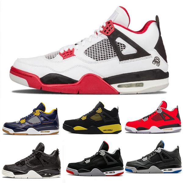 Raptors Tattoo 4 IV 4s men Basketball Shoes Scott 4s Cactus Jack Pure Money Pizzeria Blue Black Designer Men Sneakers trainers sports shoes
