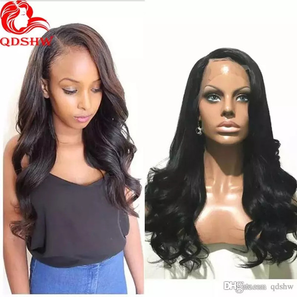 Brazilian Lace Front Human Hair Wig Wet And Wavy Pre Plucked Virgin Hair Wavy Full Lace Wigs For Black Women Baby Hair