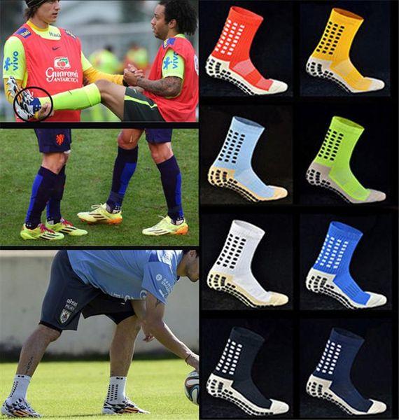 TOP Meias de futebol de alta qualidade anti derrapante meias de futebol das mulheres homens algodão calcetines meias esportivas o mesmo tipo que o Trusox