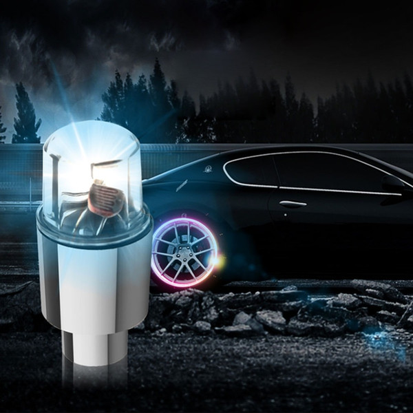 Tire Tyre Valve Cap Neon LED Flash Light Lamp Visibility For Safety Bike Accessories Bike Car Motorcycle Light Wheel