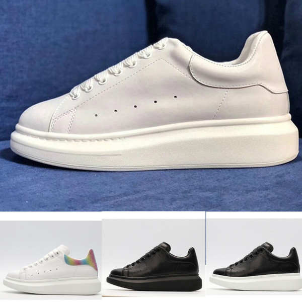 Acheter Luxury McQueen Boost Adidas Yeezy Supreme Off White Vintage Star Women Shoes Slipper Designer Red Bo Des Hommes En Cuir À Lacets Plate Forme