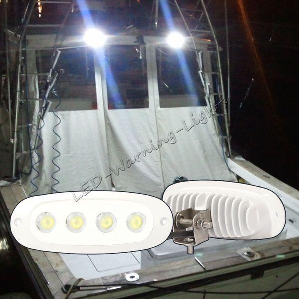 20pcs 12w led work light flood 12v 24v marine boat lamp flush mount 316 stainless bracket for truck trailer car automotive quality lamp