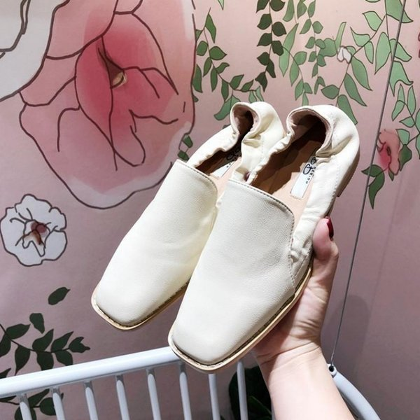 Current2019 Morning! Good Exceed Fine Solid Wood Coarse Classic Fund Leisure Time Joker Square Flat Bottom Level With Single Shoe Woman